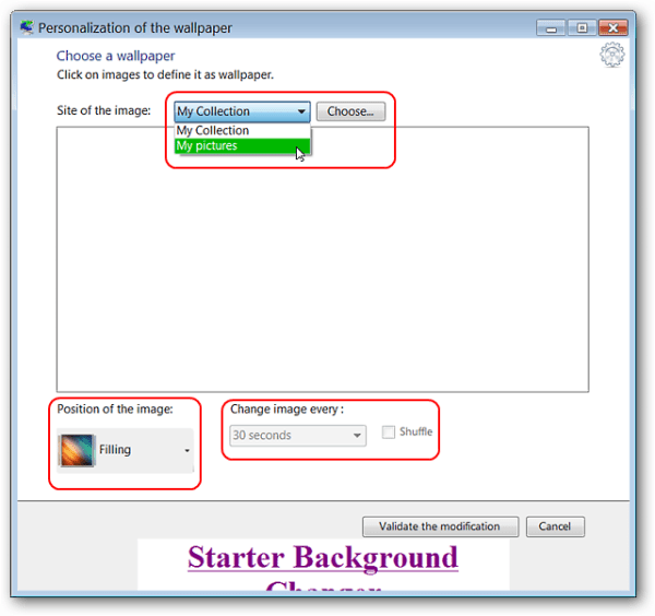 How To Customize Wallpaper in Windows 7 Starter Edition