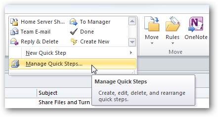Outlook Quick Step