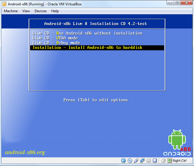 install-android-in-virtualbox