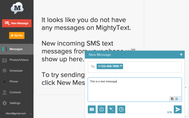 Send SMS Messages From PC , Mac