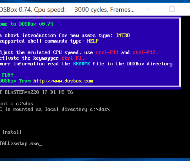 Go Through The Windows 3 1 Setup Wizard To Install Windows 3 1 In Dosbox When Its Done Close The Dos System By Clicking Reboot In The Wizard