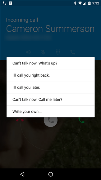 Use Quick Responses to Let Callers Know Why You Can't Answer