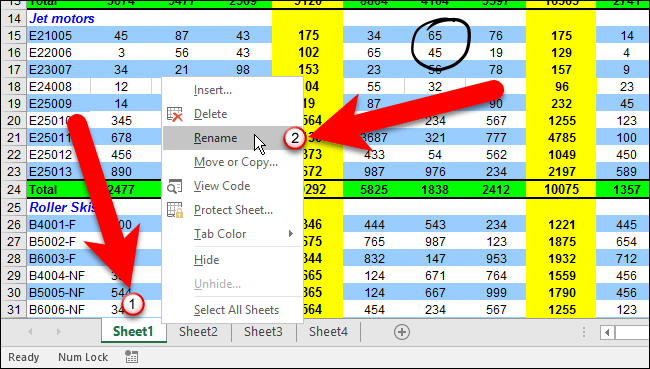 How To Rename Worksheet Tabs In Excel