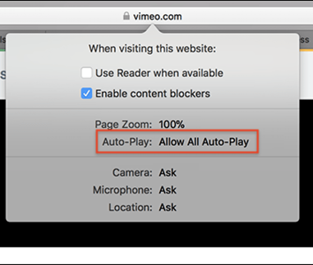 Safari Now Disables Auto Playing Videos Heres How To Allow Them For Certain Sites