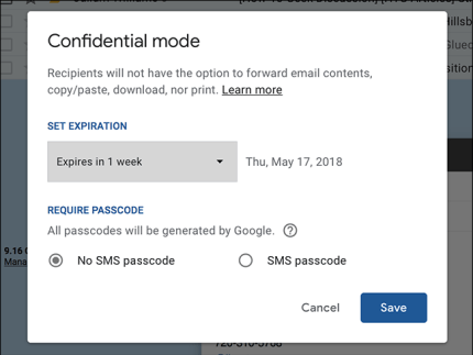 Image result for send and receive confidential gmail