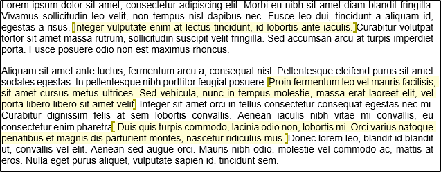 highlighted text