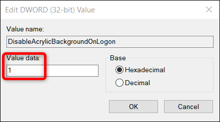 Double-click the new value you added, then change the Value Data field from a 0 to a 1