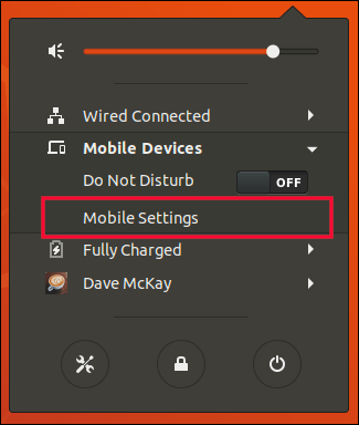 Mobile Devices menu expanded