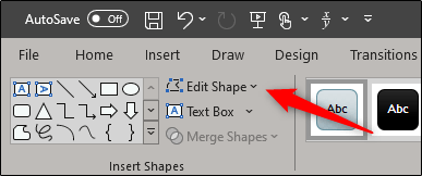 edit shape in insert shape group