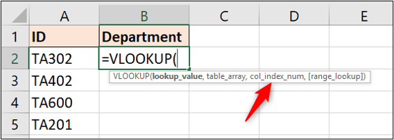 The column index number argument of VLOOKUP