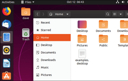 Updated Yaru icon set in the file window and dock toolbar