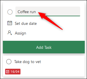 The title of a task.