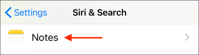 Tap on app from Siri and Search menu