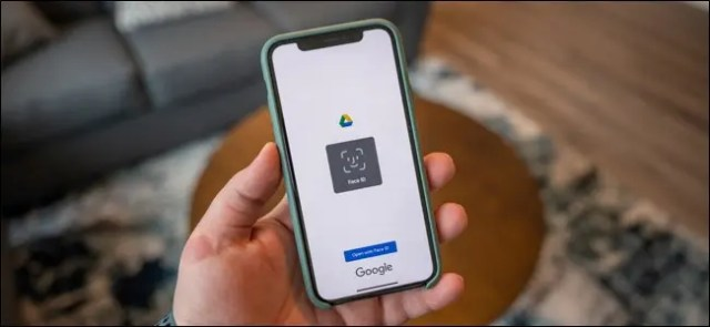 Google Drive app on iPhone asking for Face ID authentication