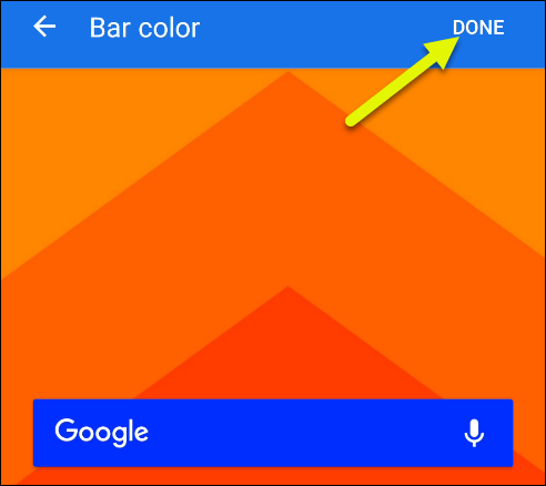 "Tap ""Done"" when you're finished customizing."