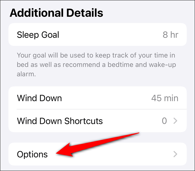 """Tap """"Options"""" when you're done adjusting the settings in the """"Additional Details"""" section."""