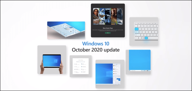 A Windows 10 October Update marketing graphic