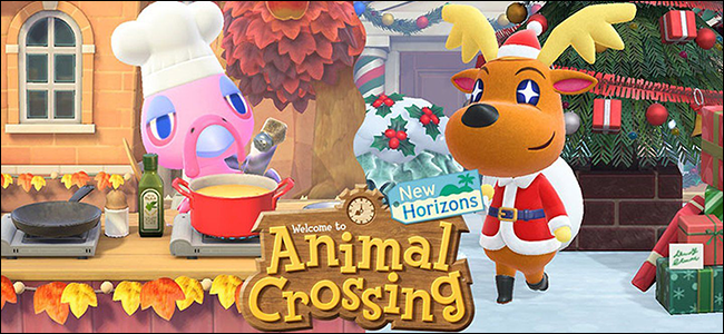 "The ""Welcome to 'Animal Crossing New Horizons'"" screen."