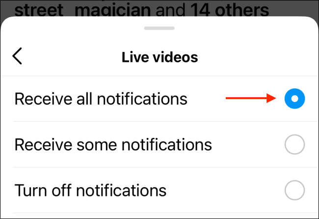 Tap Receive All Notifications