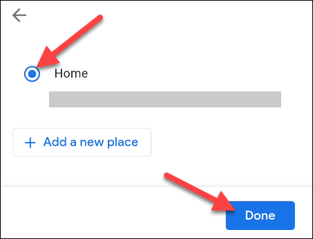 """select a location and tap """"done"""""""