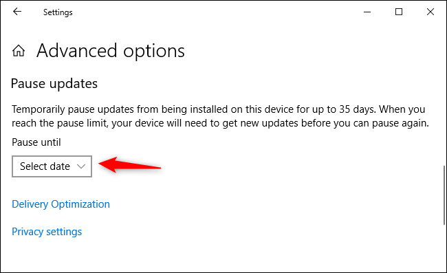 """Click """"Select date."""""""