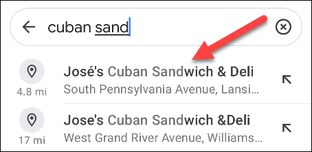 find a location in google maps