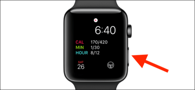 Side button indicated on Apple Watch