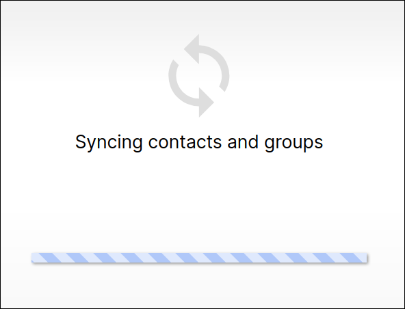 Signal syncing contacts and groups