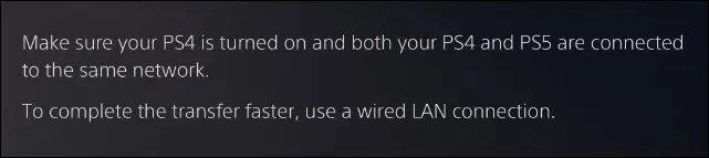 ps5 data transfer on network