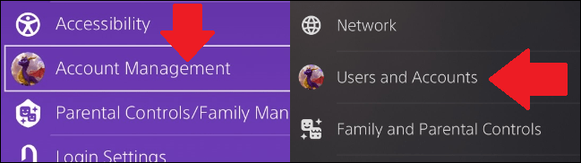 where to find account info in ps4 and ps5