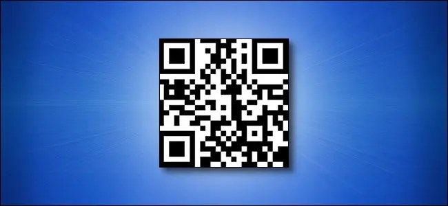 A How-To Geek URL QR Code on a Blue Background