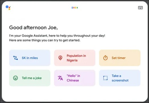 Example of Google Assistant running on a Chromebook