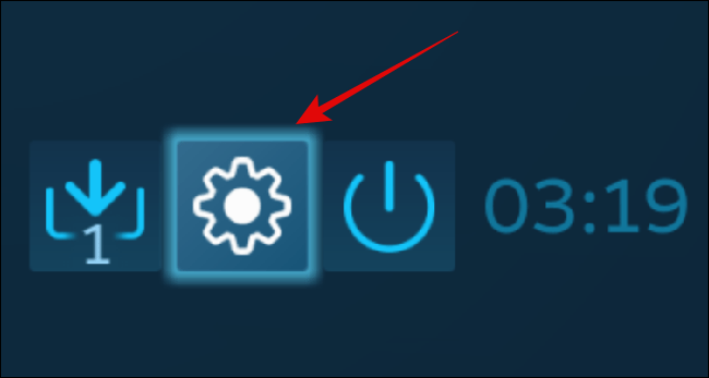 Settings button in Big Picture Mode
