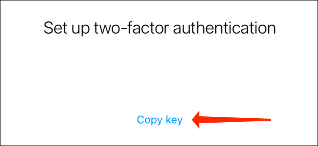 Tap Copy key to copy your Instagram authentication code. You need to paste this in Google Authenticator or any other authenticator app
