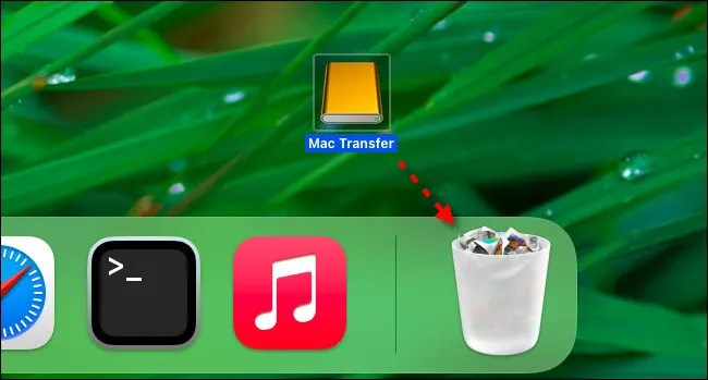 Drag the removable disk to your Trash.