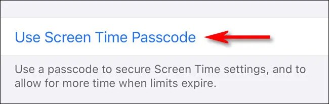 """Tap """"Use Screen Time Passcode."""""""