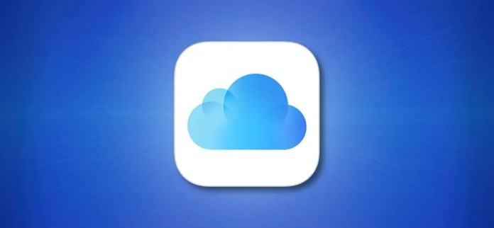 Apple iCloud Icon on a Blue Background