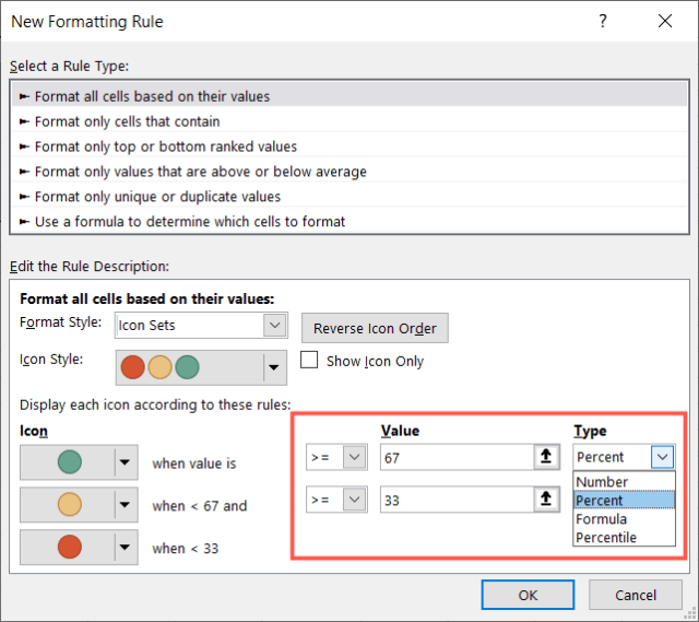 Add the values and type of values