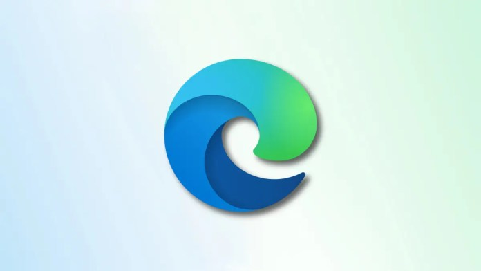 Edge Logo on faded blue and green background