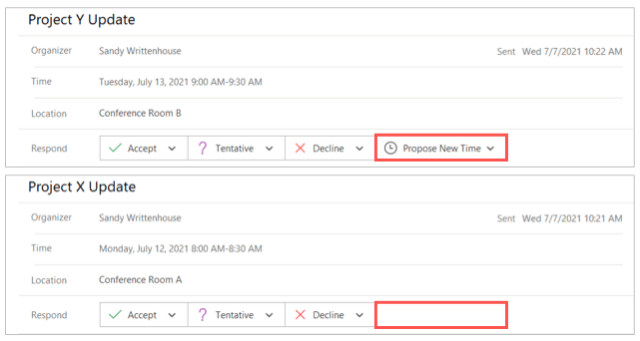 Proposed new time option in Outlook