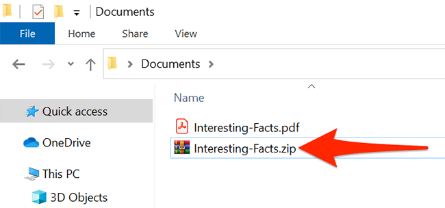 Find the downloaded ZIP file in File Explorer.
