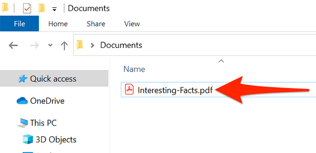 Find the PDF to convert to JPG in File Explorer.