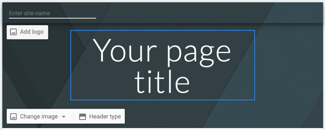 Edit the page header