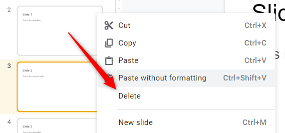 """Select """"Delete"""" from the context menu."""