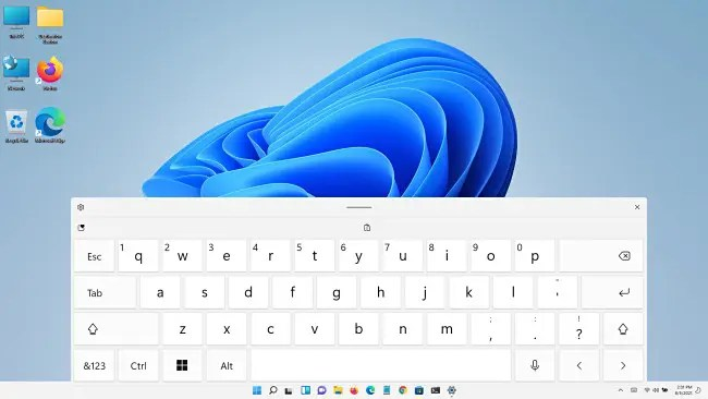 A really big Windows 11 touch keyboard.