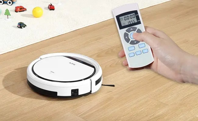ILIFE vacuum being controlled by remote