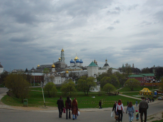 The monastery at Sergei Posad (formerly Zagorsk)