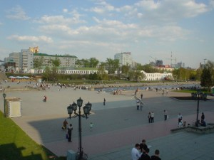 The river in downtown Ekaterinburg