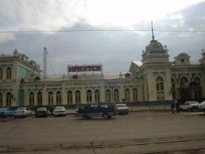 The Irkutsk railway station