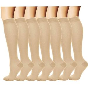 7 pairs compression stockings